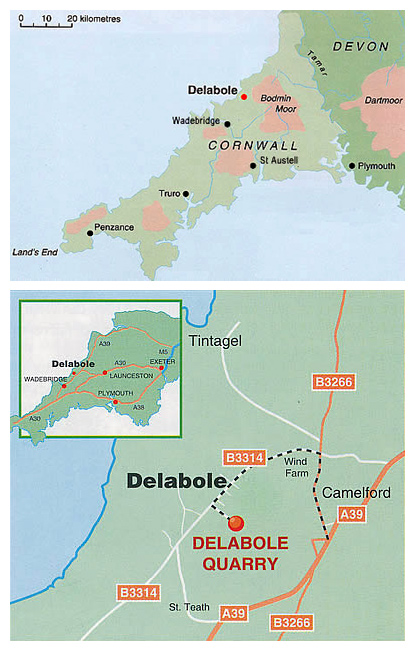 How to Find Delabole Slate Quarry