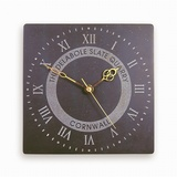 Roman Numeral Clock With Logo
