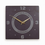 Quarter Numbered Clock With Logo (Large)