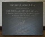 Fine Rubbed Commemorative Plaque Engraved by our Artisans